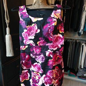 Express Sleeveless Floral Pattern Dress Cotton/Spa